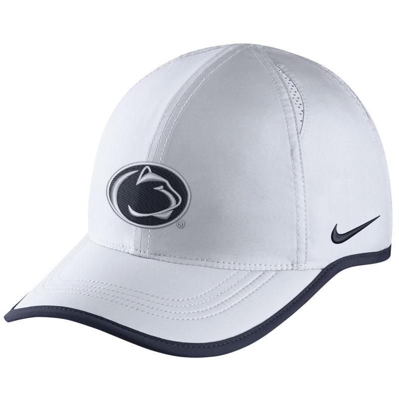 ... NAVY Penn State Nike Adult Aerobill Featherlight Hat WHITE 781703736e4e