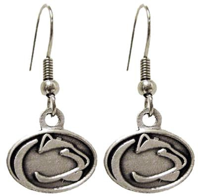 Prism Promotions - Penn State Antique Silver Logo Earrings