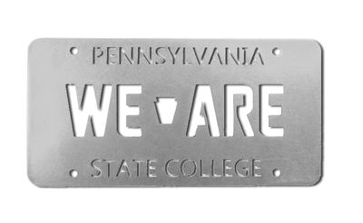 Rock Lion - Penn State Steel We Are License Plate 6