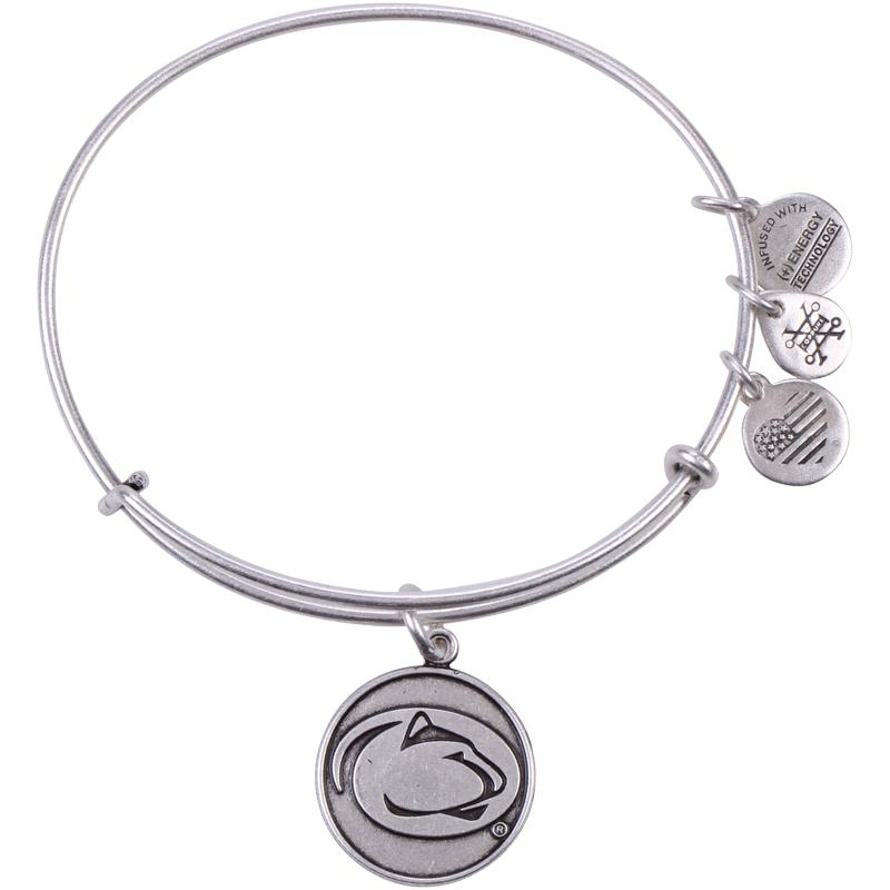 Penn State Alex Ani Mascot Charm Bangle Bracelet Silvr