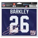 Pre-Order New York Giants Saquon Barkley Decal 5