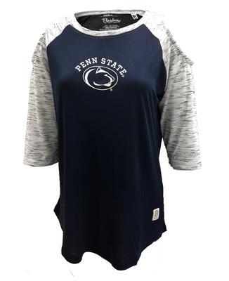 Press Box - Penn State Women's Frosh Raglan Cut-Out T-Shirt