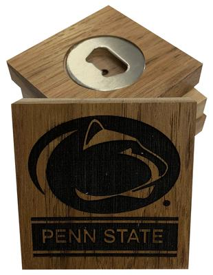 Timeless Etching Co. - Penn State Barrel Stave Coaster Set