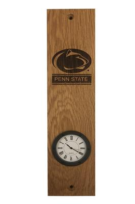 Timeless Etching Co. - Penn State Barrel Stave Clock Mount