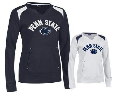 Champion - Penn State Champion Women's Split Neck Crew Sweatshirt