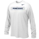 Penn State Nike Youth Sideline Long Sleeve WHITE