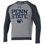 Penn State Under Armour Men's Sportstyle Fleece Crew NAVY