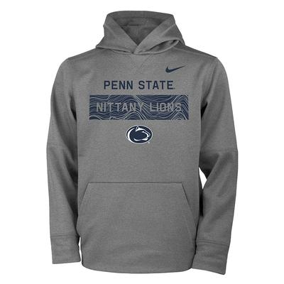 74bc28175 Color Select  Penn State Nike Youth Therma PO Hood DGREY ...