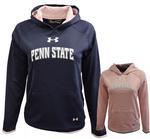 Penn State Under Armour Youth Girls' Armour Fleece Hood NAVYLIGHT PINK