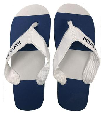 Jardine Gifts - Penn State Adult Riveria Fabric Strap Flip Flops