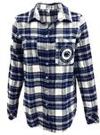 Penn State Women's Warm Up Flannel Shirt NAVYWHITE