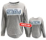 Penn State Women's Inverse Sequins Crew GREYNAVY