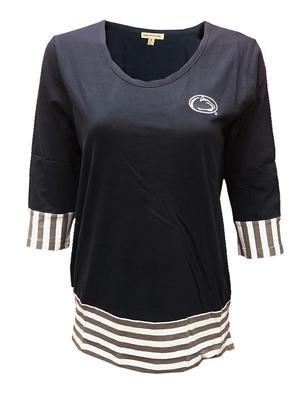 University Girls - Penn State Women's Stripe Panel Long Sleeve