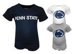 Penn State Infant Organic Onesie 3 Pack NAVYWHITEGREY
