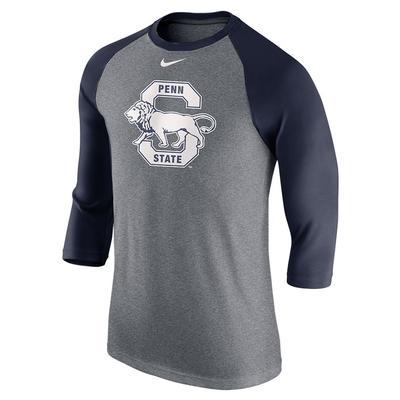 NIKE - Penn State Nike Men's Vault Raglan Long Sleeve