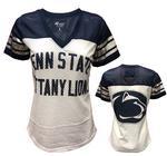 Penn State Women's Fan Club Mesh T-Shirt NAVYWHITE
