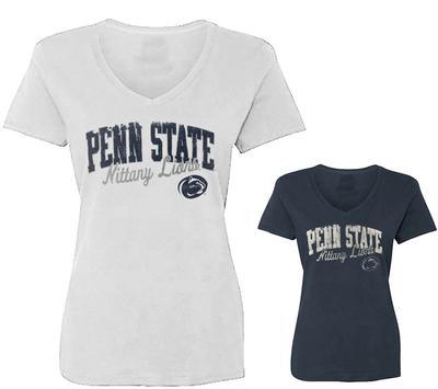 Blue 84 - Penn State Women's Soft Primed V-Neck T-Shirt