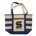 Penn State Zip Stripe Canvas Tote Bag