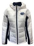 Penn State Women's Defense Polyfill Jacket WHITENAVY