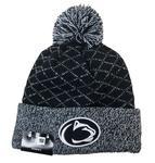 Penn State Women's Crissed Cross Knit Hat NAVYWHITE