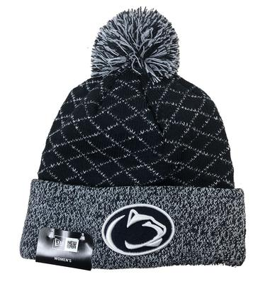 New Era Caps - Penn State Women's Crissed Cross Knit Hat