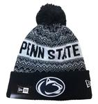 Penn State Adult Wintry Pom 3 Knit Hat NAVYWHITE