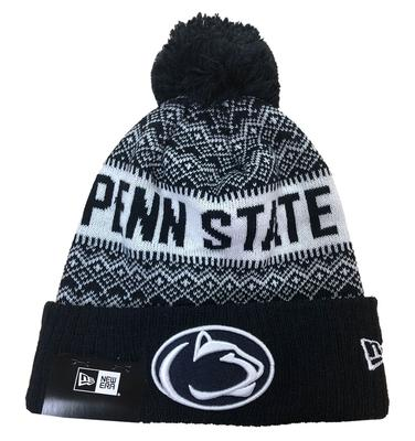 New Era Caps - Penn State Adult Wintry Pom 3 Knit Hat
