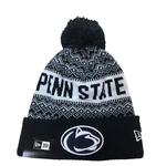 Penn State Youth Wintry Pom 3 Knit Hat