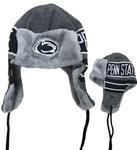 Penn State Adult Frosty Trapper Knit Hat NAVYWHITE