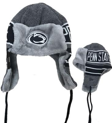 New Era Caps - Penn State Adult Frosty Trapper Knit Hat