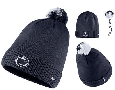 NIKE - Penn State Nike Adult Sideline Pom Knit Hat