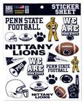 Penn State Football Sticker Sheet NAVYWHITE