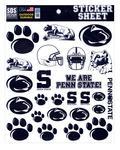 Penn State Standard Sticker Sheet NAVYWHITE