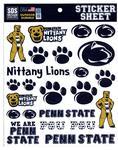 Penn State Youth Marks Sticker Sheet NAVYWHITE
