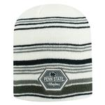 Penn State Adult Channel Knit Hat NAVYWHITEGREY