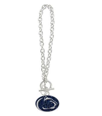 Rhinestone U - Penn State Crystal Logo Charm Bracelet