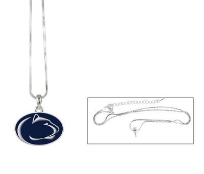 Rhinestone U - Penn State Enamel Logo Necklace