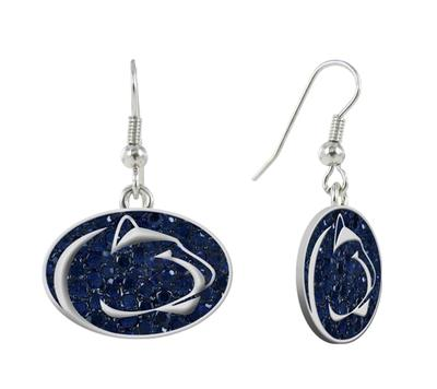 Rhinestone U - Penn State Crystal Logo Hook Earrings