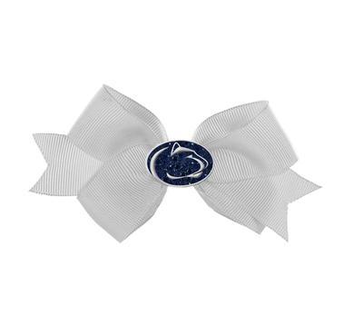 Rhinestone U - Penn State Crystal Logo Small Bow
