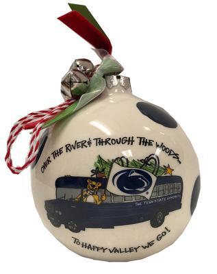 Magnolia Lane - Penn State Blue Bus Ceramic Ornament