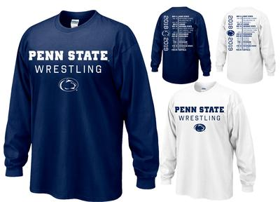 The Family Clothesline - Penn State Adult 2018-19 Wrestling Schedule Long Sleeve