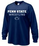 Penn State Adult 2018-19 Wrestling Schedule Long Sleeve NAVY