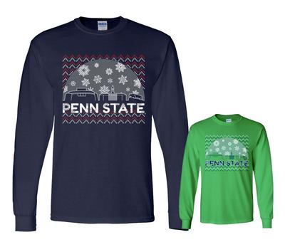 The Family Clothesline - Penn State Adult Snow Globe Holiday Long Sleeve