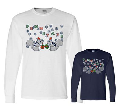 The Family Clothesline - Penn State Adult Squirrel Holiday Long Sleeve