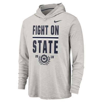 NIKE - Penn State Nike Men's Slub Hooded Long Sleeve