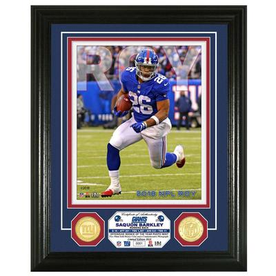 Highland Mint - 2018 Saquon Barkley Rookie of the Year Photo Mint Frame