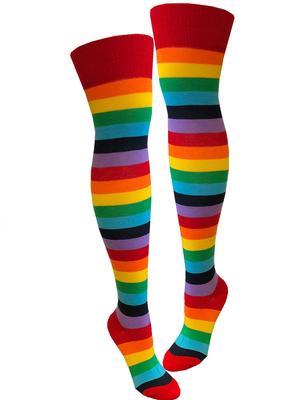 Oriental Trading - Adult Knee High Rainbow Socks