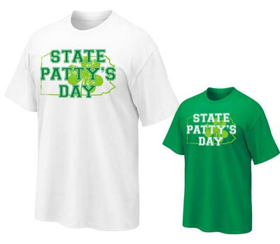 The Family Clothesline - Adult State Patty's PA Clover T-Shirt