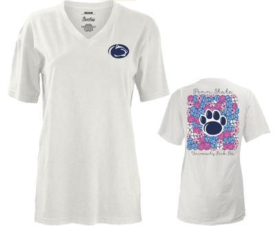 Press Box - Penn State Women's Floral Bunch V-Neck T-Shirt