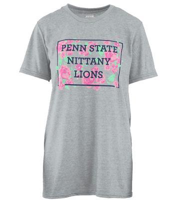 Press Box - Penn State Women's Melange Flower Box T-Shirt